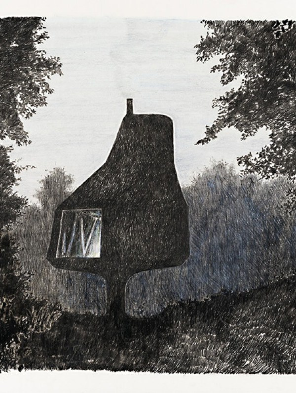 HOUSE IN AN ORCHARD