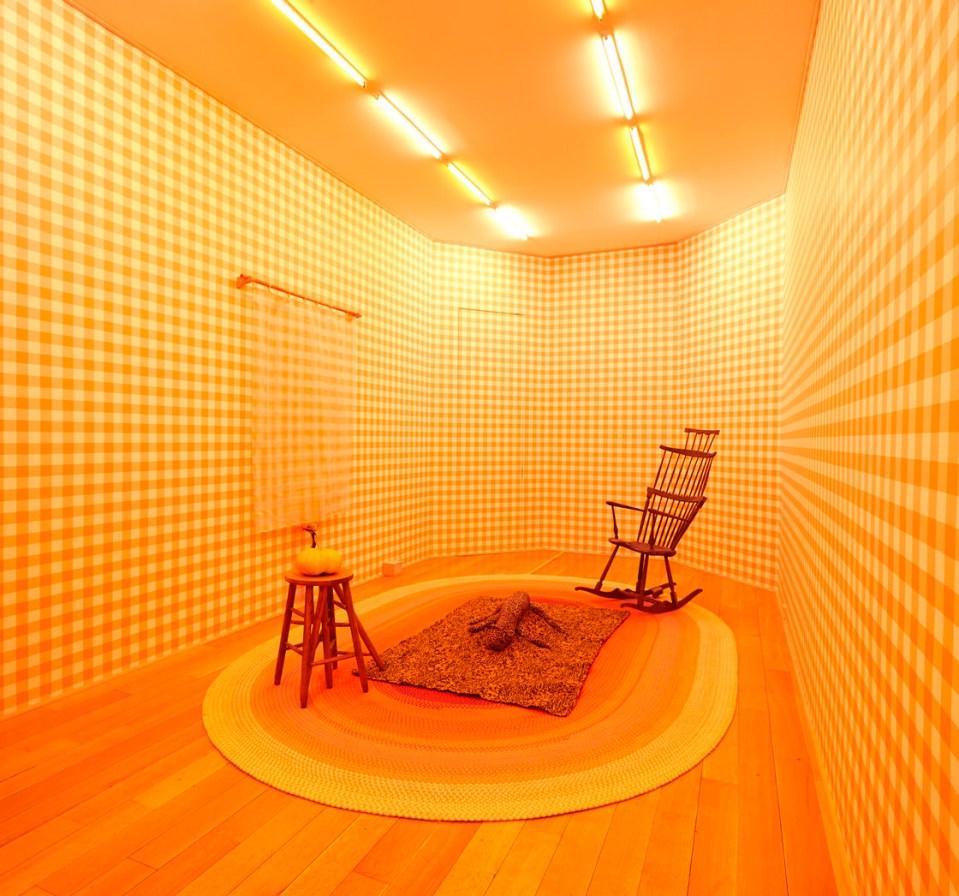 interior installation, yellow