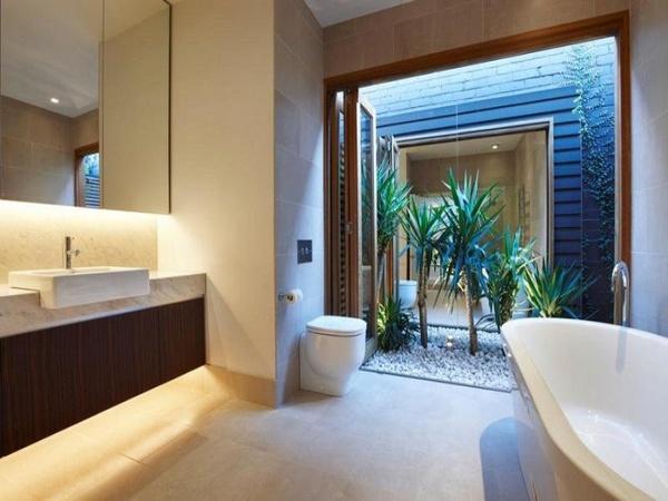 bagno bathroom moderno modern parete decorativa decorative panel wevux scuola di interni franciNf artsdesign