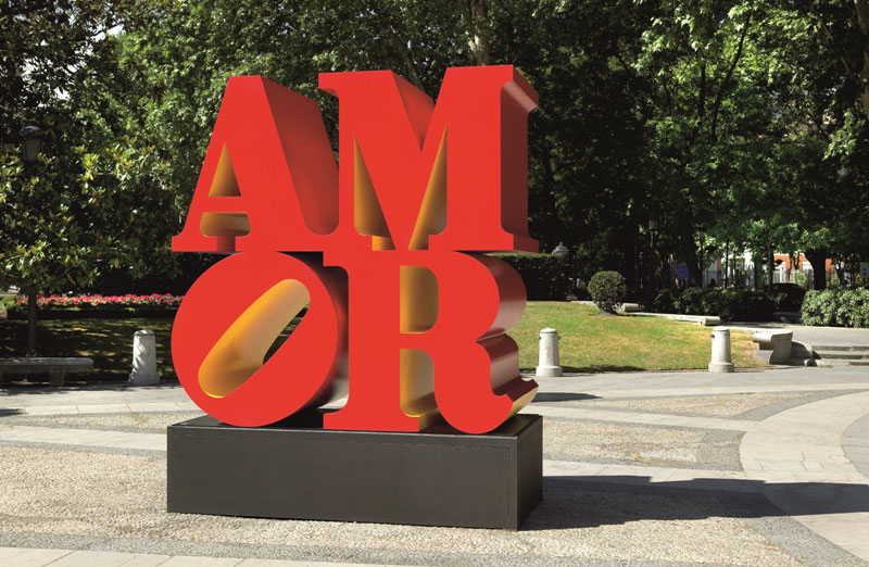 7 Robert Indiana, Robert Clark, Eat Love Die, Wevux, Contemporary (he)art, Giulia Serafin, contemporary art, pop art, sculpture, painting, drawing, poetry, words, icon, New York, Love, red, arte contemporanea, scultura, pittura, disegno, rosso, poesia, icona, parole