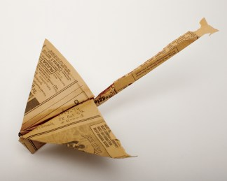 Paper airplane found on March 17, 1979 at West 28th Street between Fifth Avenue and Broadway
