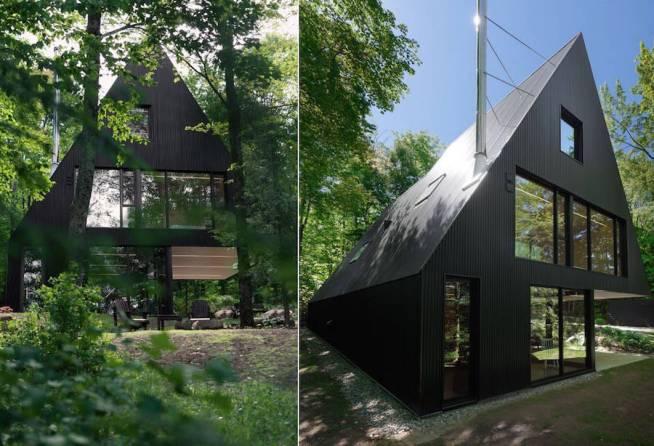 Contemporary-Triangular-Cabin-in-Canada1-900x614