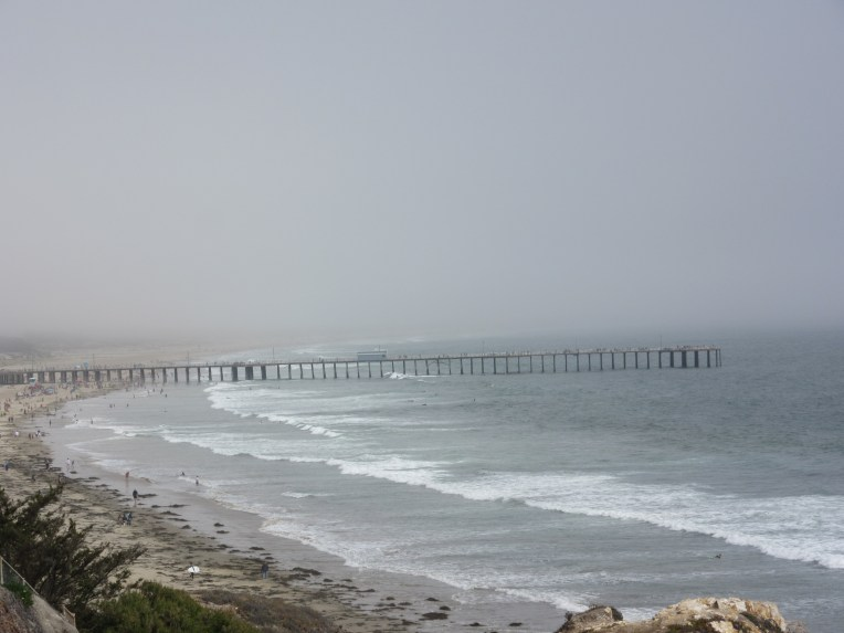 Pismo beach when the fog rolled in
