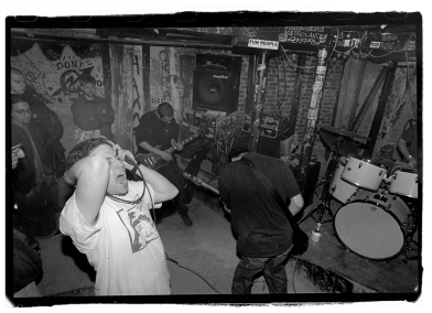 Saetia, clearly in the basement at ABC-NO-RIO, circa 1998