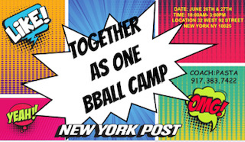 Together As One Basketball Camp 2021 Is Here!