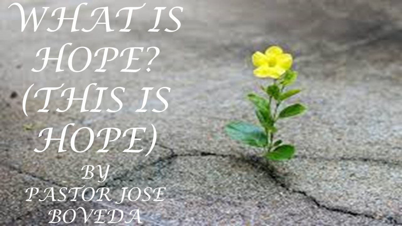WHAT IS HOPE? (THIS IS HOPE)