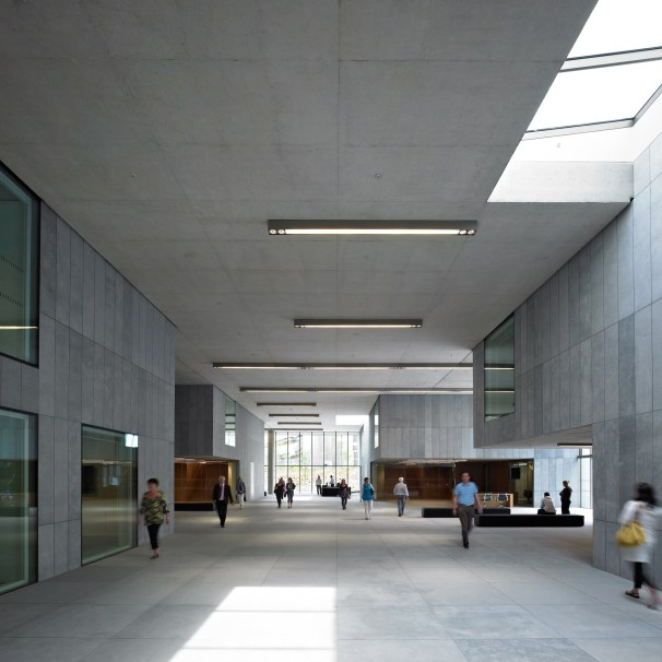 Council Building Inside The Street
