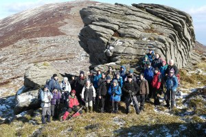 Caher Roe's Den : joint walk Tullow Mountaineering Club