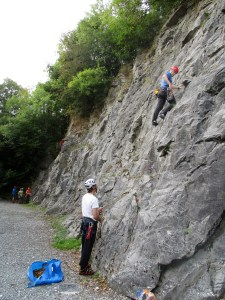 Tommy leading 'Crooked Crack'.
