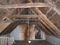 Removing A Ceiling To Expose Beams