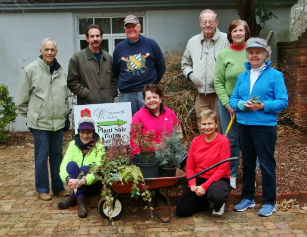 Weymouth Center Dirt Gardeners (front) Martha Parsons, Louise Kamp, Kathy Luckhaus, (back) Larry Cohen, Alex Khalo, Fred Para, Jack Binning, Linda Gibbs, Sue Huston