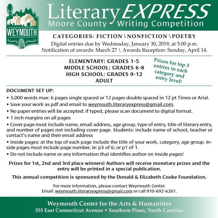 Moore County Writing Competition