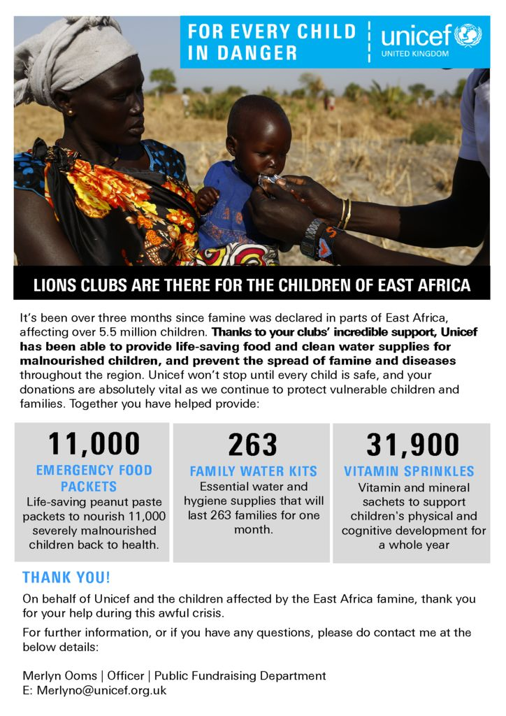 thumbnail of Update Report Lions Clubs – East Africa 2017