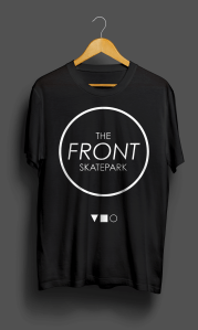 The Front T-Shirt Black KeyLine Front