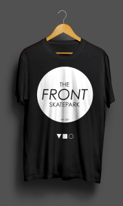 The Front T-Shirt Black Solid Front
