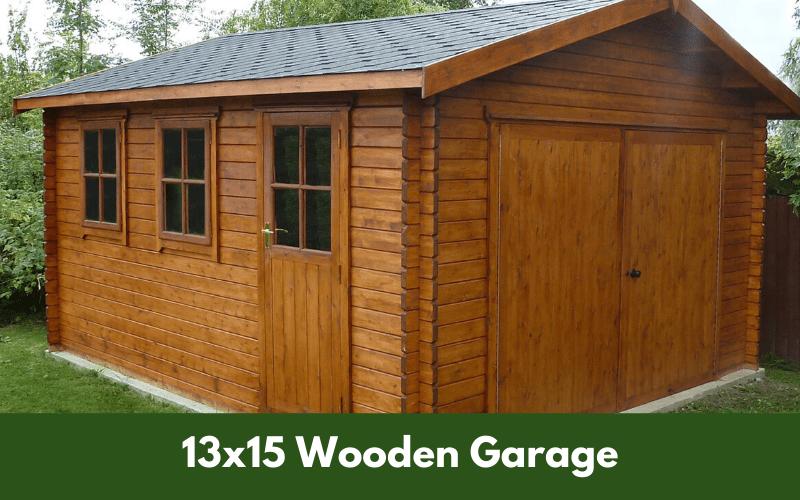 13x15 Wooden Garage