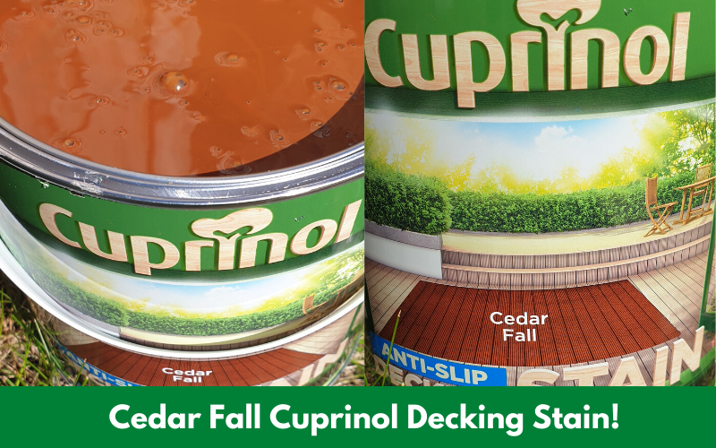 Cedar Fall Cuprinol Decking Stain!