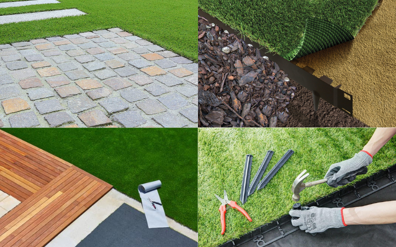 Artificial grass edging ideas