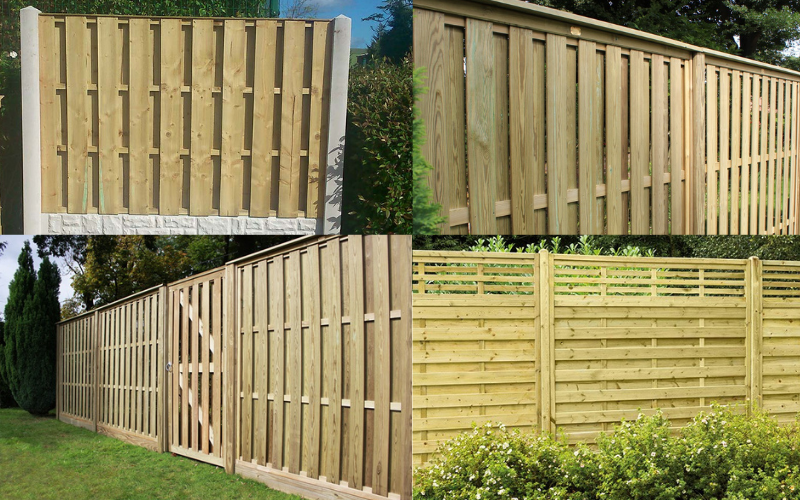 Double sided fence panels