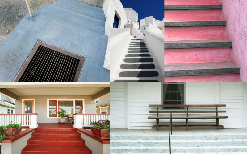 Painted Concrete Steps - Example