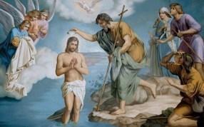 Znalezione obrazy dla zapytania wody Jordanu chrzest Jezusa
