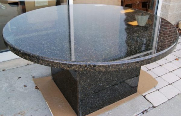 Outdoor Round Pedestal Solid Granite Table