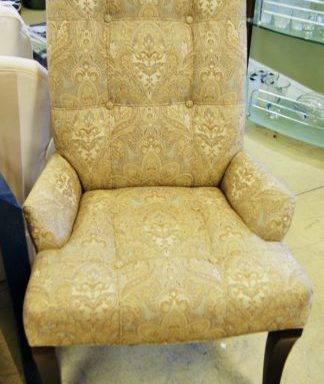 Ethan Allen Verlaine Series Tufted Arm Chair's