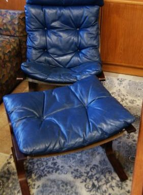 Mid Century Modern Chair and Ottoman