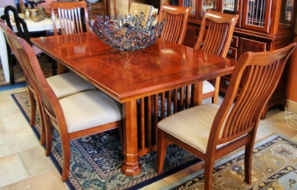 Mission Style Dining Room Set and China Cabinet Priced Separate
