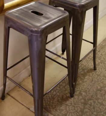 2-Restoration Hardware Style Bar Stools Priced Separate