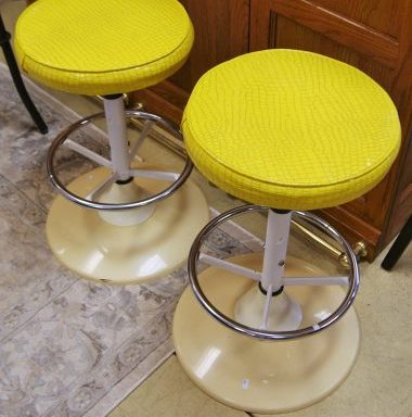 2-Retro Bar Stools Priced Separate