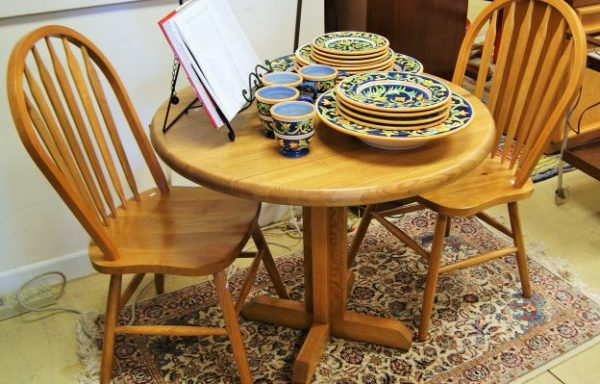 3 Piece Oak Table and Chair Set