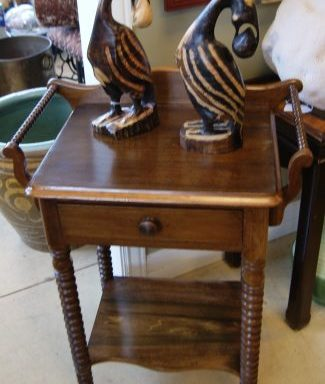 Antique Barley Twist Side Table