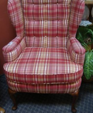 Wing Back Tufted Arm Chair