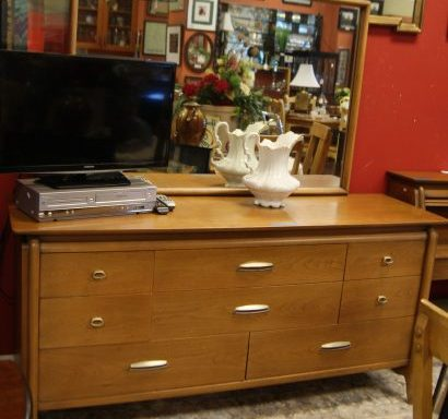 Mid Century Modern Dressers and Mirror And Headboard Priced Separate