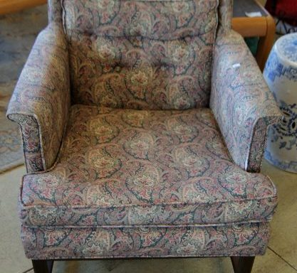 Vintage Tufted Ladies Arm Chair