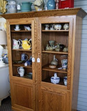 2-Solid Oak Book Case Cabinets  Priced Separate