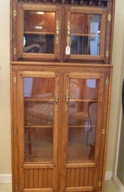 2 Piece Curio Cabinet