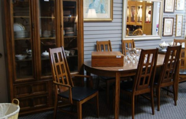 Mid Century Modern Table And Chairs-China Cabinet- Buffet Server Priced Separate