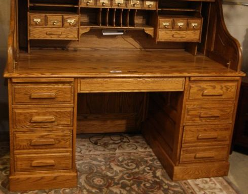 Roll Top Desk And Chair Priced Separate