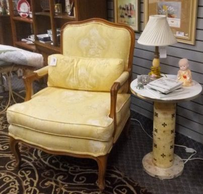 Queen Anne Style Arm Chair