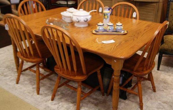 Amish Oak Table And Chairs Priced Separate