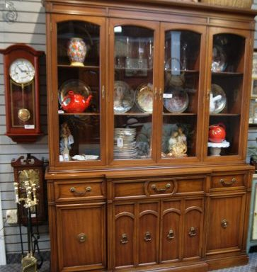 2 Piece China Cabinet With Secretary Desk