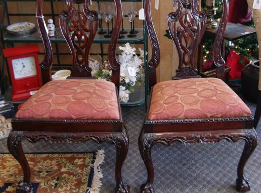 6-Chippendale Dining Room Chairs Priced Separate