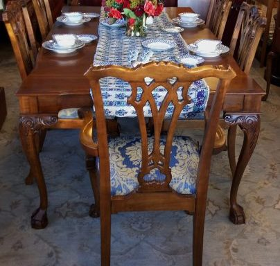 Formal Dining Room Set and Matching Buffet Credenza Priced Separate