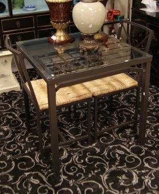3 Piece Small Modern Table and Chair Set