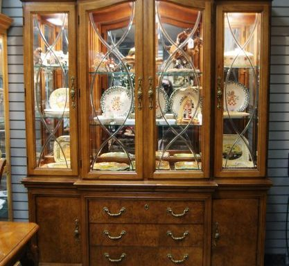 Burled Cherry China Cabinet