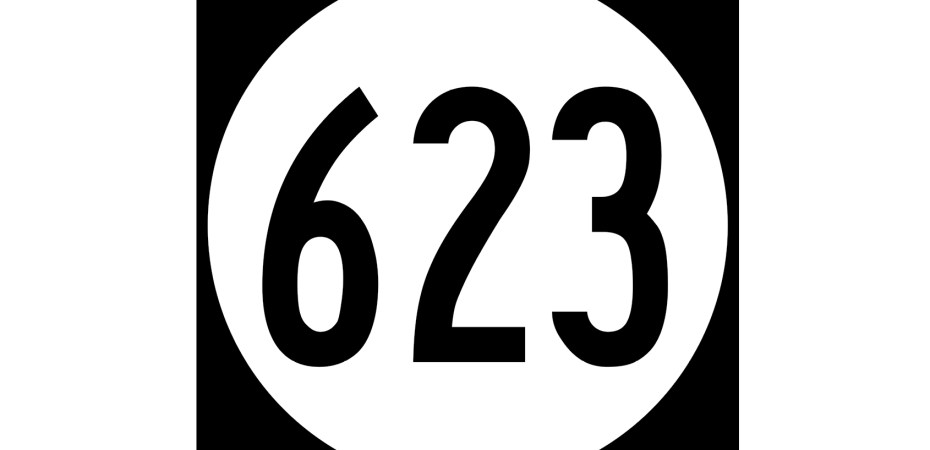 A sign for Virginia State Route 623