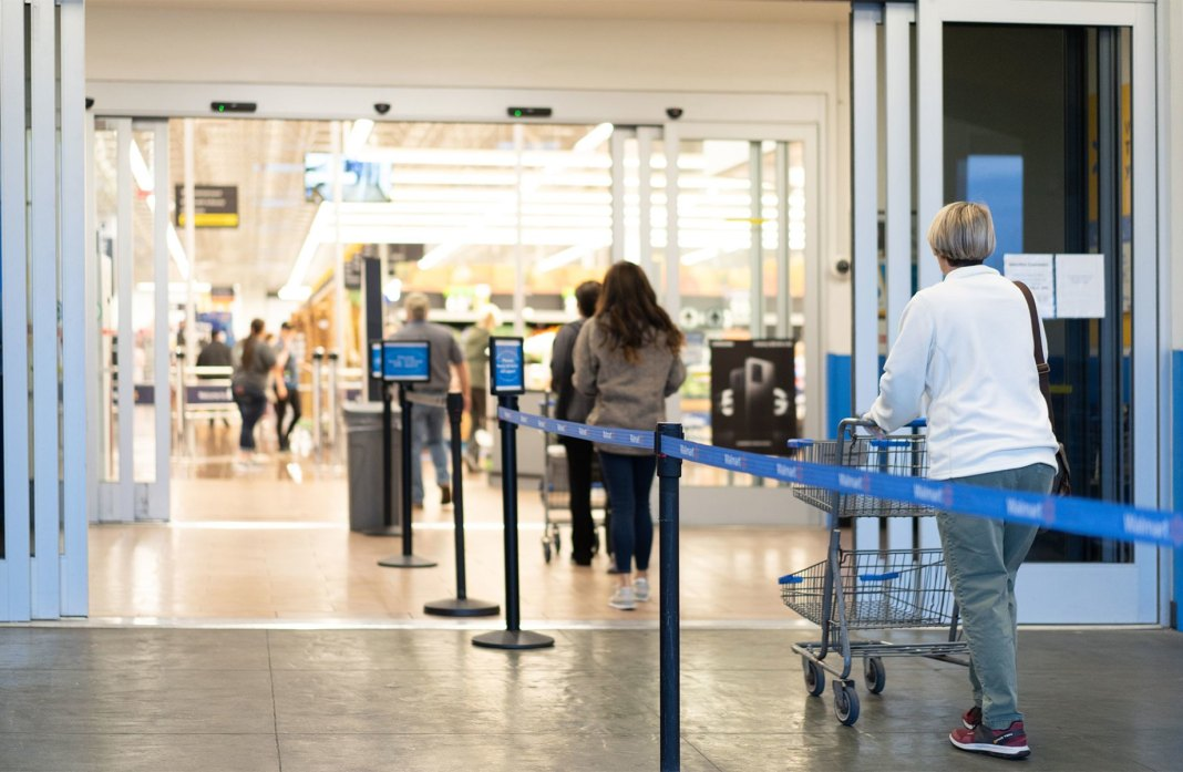 Customers enter a Walmart store. Courtesy photo.