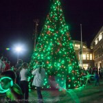 Kids provide power to Wake Forest Christmas Tree